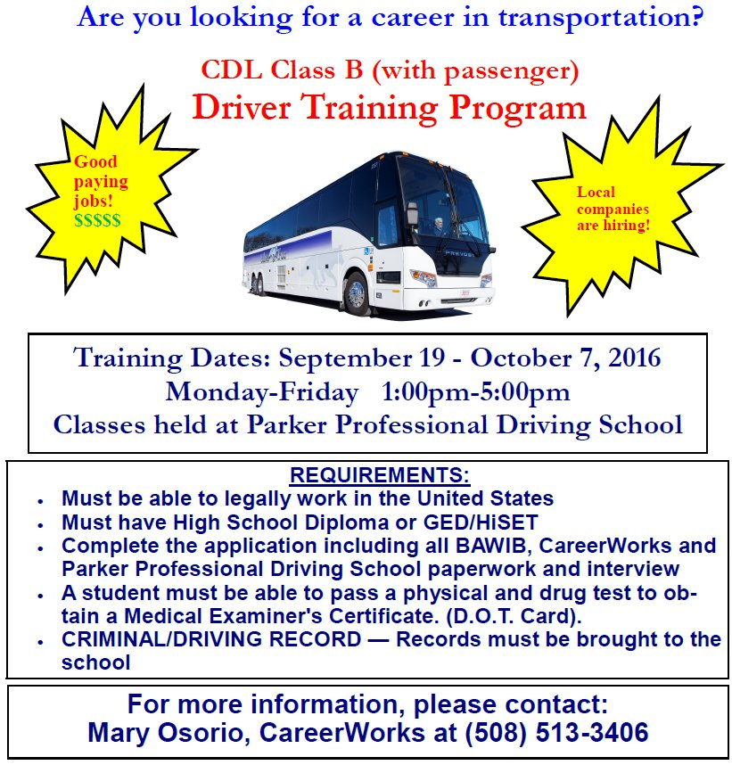 CDL Training Program Flyer