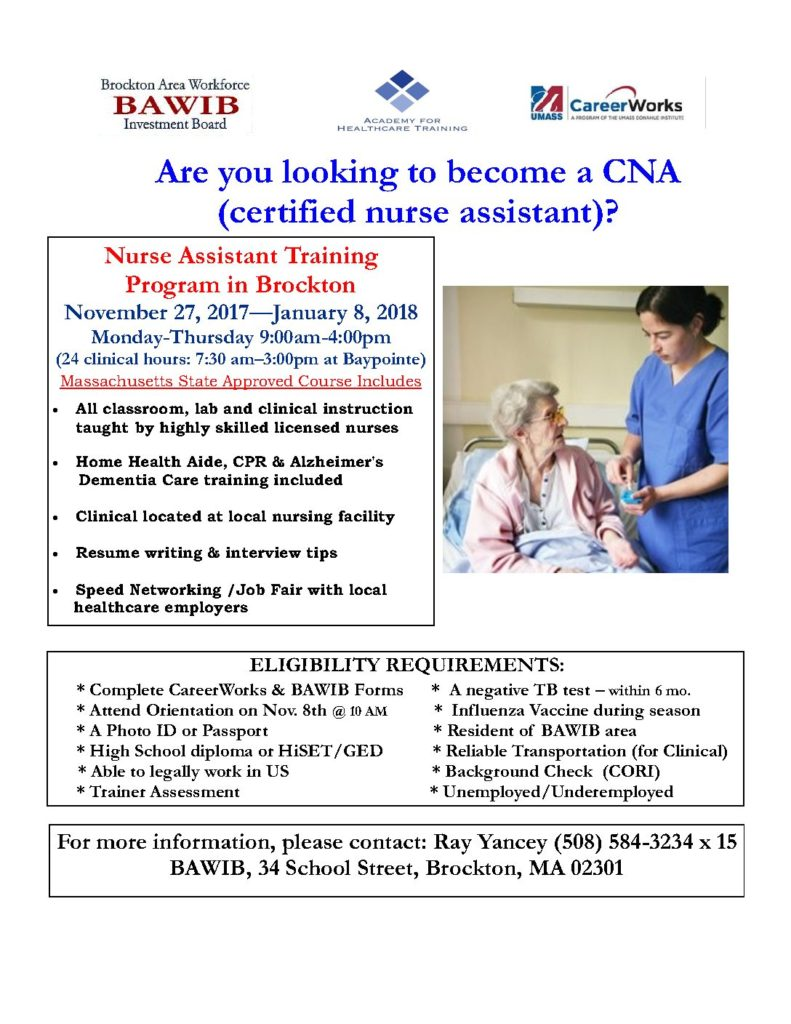 Certified Nurse Assistant Program Now Offered At The Center Of